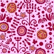 Royalty-Free Stock Vektorfiler: Cute floral seamless pattern
