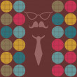 Hipster background male style illustration - Stock Vector