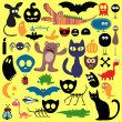 Animals and evil things set — Stock Vector