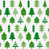Seamless pattern wtih various Christmas trees — Stock Vector