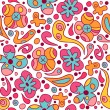 Royalty-Free Stock Photo: Seamless pattern with beautiful flowers