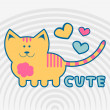 Lovely kitty - Imagen vectorial