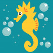 Cute seahorse - Stock Vector