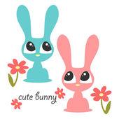 Simpatici coniglietti — Vettoriale Stock