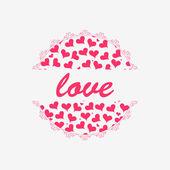 симпатичные романтический карточки дизайн — Cтоковый вектор