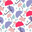 Cute seamless pattern with umbrellas — Stock Vector