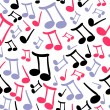 Musical seamless pattern with notes — Stock Vector