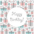 Royalty-Free Stock Vector Image: Cute birthday card with seamless pattern