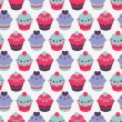 Royalty-Free Stock Vectorielle: Seamless pattern with sweet cakes