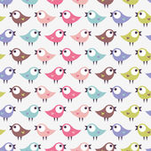 Wzór z śliczne małe ptaki — Wektor stockowy
