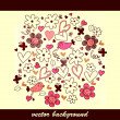 Cute hand drawn background design - Stock Vector