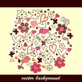 Cute hand drawn background design — Stock Vector