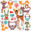 Set of various cute animals — Stock Vector #24453599