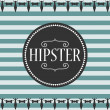 Stock Vector: Stripey card design hipster style