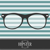 Hipster card design with glasses — Stock Vector