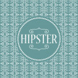 Stock Vector: Hipster card design