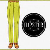 Elegant male legs in trousers — Stock Vector