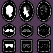 Set of various labels for gentlemen — Stock Vector