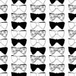 Stock Vector: Seamless pattern with bow ties