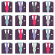 Stock Vector: Seamless pattern male formal suit