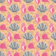 Cute seamless pattern with shells — Stock Vector #28280179