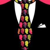 Gentleman tie pattern seamless texture — Stock Vector