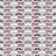 Stock Vector: Seamless pattern with bow ties and mustaches