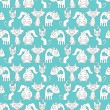 Seamless pattern with lovely cats — Imagen vectorial