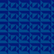 Blue abstract geometric seamless pattern — Imagen vectorial