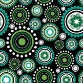 Seamless pattern with abstract colorful circles — Stock Vector