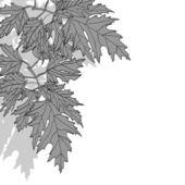 カエデの葉の装飾的な背景 — ストックベクタ