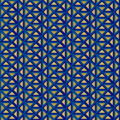 Abstract geometric seamless pattern blue and gold — Stock Vector