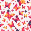 seamless pattern with colorful butterflies — Stock Vector
