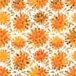 Autumn seamless pattern with flowers — Stock Vector