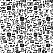 Hipster elements seamless pattern design — Stock Vector