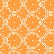 Cute seamless pattern with oranges — Stock Vector