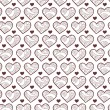 Cute romantic seamless pattern with hearts — Stock Vector