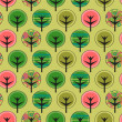 Seamless pattern with various trees — Stock Vector #32744451