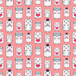Seamless pattern with cute kittens — Stock Vector