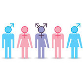 Various gender identities, set of icons — Stock Vector