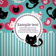 Card with kittens in love — Image vectorielle