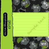 Luogo di sfondo modello per modello divertenti gatti testo — Vettoriale Stock