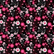 Decorative seamless pattern with flowers — Imagen vectorial