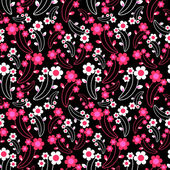 Decorative seamless pattern with flowers — Stock Vector