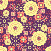 Seamless pattern with pretty flowers — Stock Vector