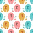 Seamless pattern with cute colorful animals — Stock Vector