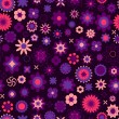 Sweet seamless pattern with flowers — Stock Vector