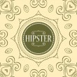 Hipster card template decorative frame — Stock Vector