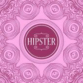 Cornice decorativa per il modello scheda hipster — Vettoriale Stock