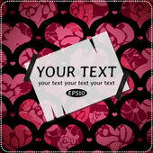 Karta z valentine ozdobny wzór serca — Wektor stockowy